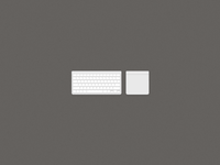 Apple Wireless Keyboard and Magic Trackpad Icons