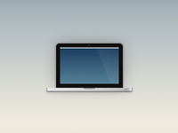 Single Element, CSS Macbook Pro