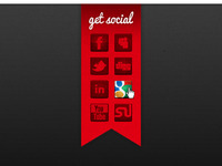 Get Social Footer Ribbon