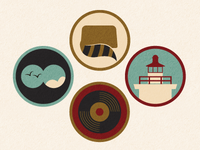 Moonrise Kingdom Icons