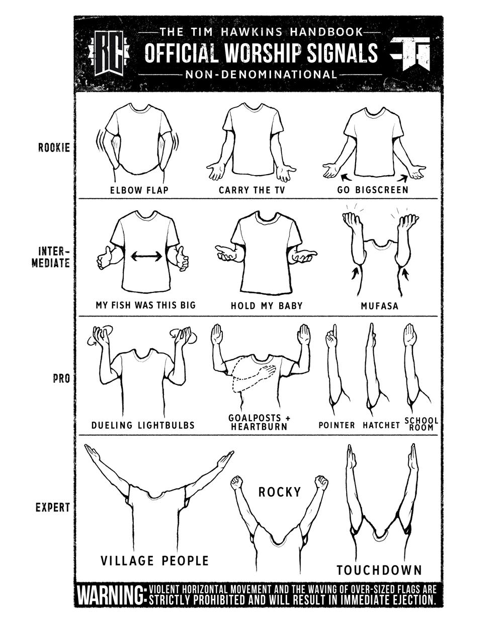 Tits sway adult hand signals