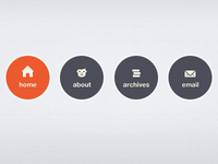 Navigation Element (web icons revised)