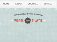Words with Flavor (header & nav)