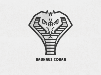 Bauhaus Cobra (made from ITC Bauhaus letters)