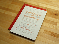 joanna and jeremy | embossed invitation