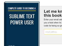 Sublime Text Book coming soon signup