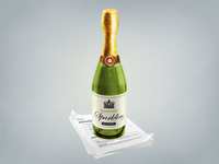 Champagne bottle for Sparklingapp