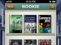 Bookie App based on Pandora UI