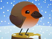 Animal Shapes - Christmas Robin