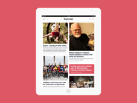 iPad magazine fluid layout