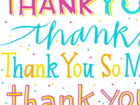 thank you hand lettered