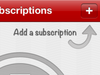No subscriptions screen