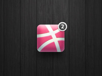 """2 dribbble invites"" icon"