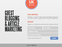 UK Blogs Web Site Design
