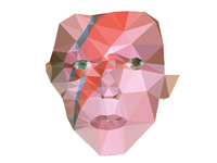 Low Poly Bowie Work in Progress