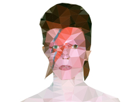More Low Poly Bowie WIP