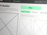 Codename: Outfitted Wireframes
