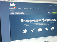 Tabs Icons Website