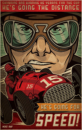 Vintage Race design av Ink Tycoon