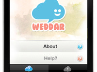 Weddar iPhone App Shot1