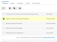 Scholarship Matches