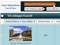 CampusDiscovery.com College Search Filter Tags