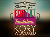 Thank You Kory Woodard