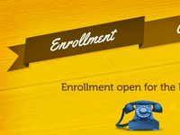 Enrollment Slide