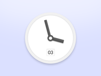 Simple clock (PSD)