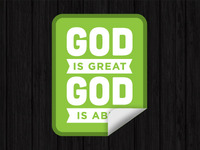 God Is Great / God Is Able