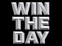 Win The Day Sticker Concept
