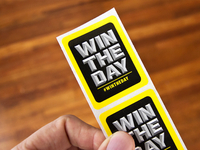 Win The Day Sticker