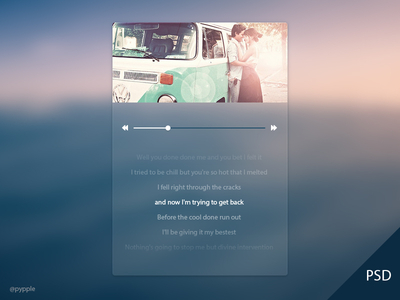 Download Music PSD