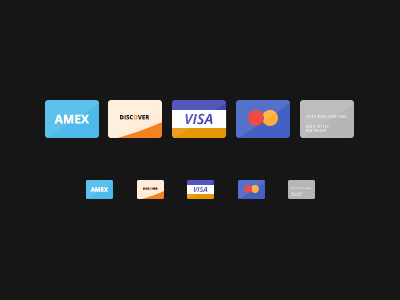 Download Freebie Flat Credit Cards