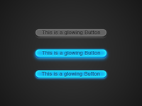 glowing 3D Button