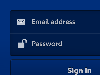 Sign-in-screen