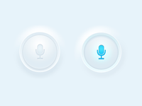 Microphone button (animated)