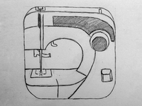 Imaginary Sewing App Icon Sketch