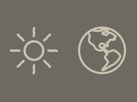 Earth & Sun icons