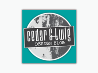 Cedar and Twig Design Blog Logo