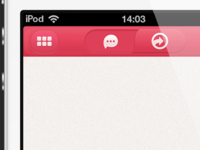 Iphone App navigation bar UI
