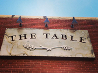 The Table Signage