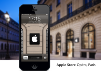 Apple Store Opéra, Paris iPhone 5 wallpaper