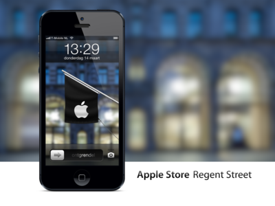 Apple Store Regent Street, London iPhone wallpaper