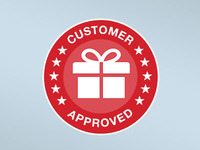 Overstock.com Customer Approved Badge