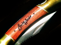 StacheWarden Rosewood Pocket Knife