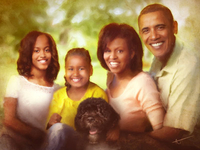 President Barack Obama Family Portrait