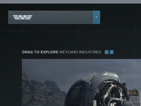 Weyland Industries - Dropdown Menu