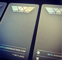 Weyland Industries WonderCon cards