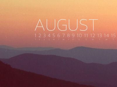 Download August 2013 Wallpaper